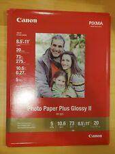 "Canon Photo Paper Plus Glossy II 20 sheets 8.5""×11"" letter"