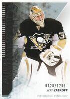 2013-14 SP Authentic Hockey #211 Jeff Zatkoff RC /1299 Pittsburgh Penguins