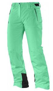 Ski Snowboard Pants Snowpants Salomon Iceglory Pant W, Green, Size 32/2XS
