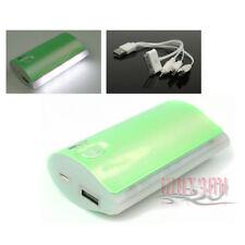 5200MAH EXTERNAL BATTERY CHARGER MICRO USB GREEN IPHONE 5 4S IPOD NANO IPAD MINI