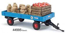 BUSCH 44995  Spur H0 -  Anhänger mit Apfelladung + Säcken  Neu