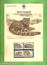 #QQ.  WWF  INFORMATION SHEETS, STAMPS & FDCs - SNOW  LEOPARD