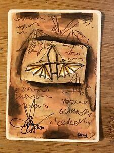 MTG ARTIST PROOF Japanese Ornithopter AP Sketch Art Amy WEBER Magic
