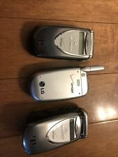 Lot Of 3 Old Cell Phones For Parts
