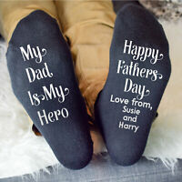 Personalised Fathers Day Gifts Socks For Best Dad Daddy Grandad Any Text Custom
