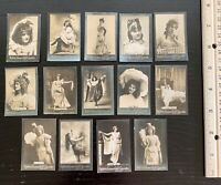 Lot of 14 Orig. c.1900 Ogden's Guinea Gold Cigarettes Tobacco Cards - Actresses