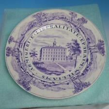 Wedgwood Williams College Purple Collector Plate - West College in 1790