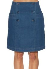 APC Blue Denim Button Front Skirt - Size 34 / XS - RRP £145