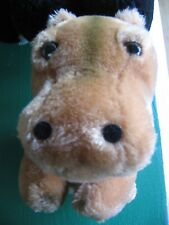 "R. Dakin Plush Brown Hippo Vintage 1980 9"""