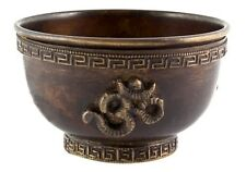 Om Oxidized Copper Offering Bowl 3 Inch with Sand Incense Burner Tibetan Ritual