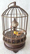 Bird Cage Clock Vintage AUTOMATON BIRD CAGE