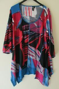 TS TAKING SHAPE Plus Size M Colourful Tunic Top Stretch