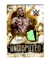 WWE Big E 2018 Topps Undisputed Gold Authentic Shirt Relic Card SN 5 of 10