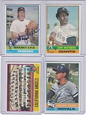 1976 Topps signed Fred Patek Royals signed autograph with COA