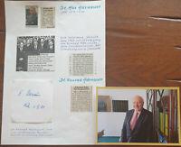 Konrad Adenauer jun.1906-1993, ält Sohn d Altkanzlers Konrad Adenauer,ECHT hands