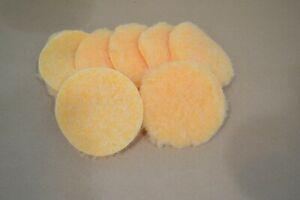 """Synthetic Fleece - for leather finishing - 4"""" round - 12 pack (E465)"""