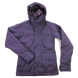 Burton Delirium Womens XS Purple Hooded Snowboard Ski Snow Jacket Coat