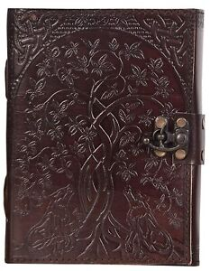 TREE OF LIFE LEATHER JOURNAL WITH LOCK NEMESIS NOW 5 x 7 Inchs NOTEBOOK DIARY