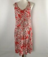 J.Jill Women's Dress Size 10 Sleeveless Rayon Red Floral