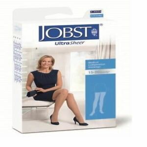 Jobst Hosiery Ultrasheer Extra Large Ankle 29-33Cm 15-20Hg Thigh Natural