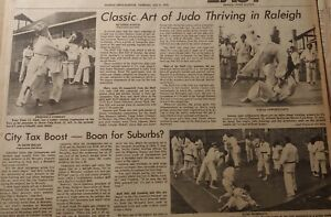 JULY 8, 1976 NEWSPAPER PAGE #J7848- CLASSIC ART OF JUDO THRIVING IN RALEIGH
