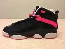 Jordan 6 Rings Basketball Shoes 323399-061 Black/Pink Size Youth 9Y /Women 10.5