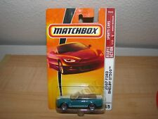Matchbox 2007 Ford Shelby GT500 GT 500 Convertible Teal New on Card 1:64