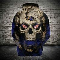 Baltimore Ravens Hoodie Football Hooded Sweatshirt Sports Jacket Gift for Fans