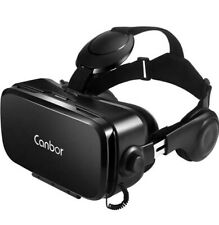 Canbor VR Headset 3D VR Goggles Glasses with HD Stereo Headphones ✅
