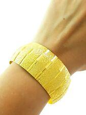 22k Gold Plated Bracelet Turkish Wedding Jewelry Textured Diamond Cut Bangle