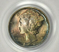 "1945-S Mercury Dime PCGS MS66 ""Micro S"" Stunning Toning! See Video!"