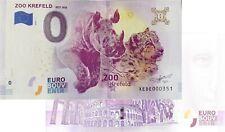 Zoo Krefeld 2019-1 Null Euro Souvenirschein|€0 Euro Schein