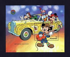 Redonda - 1990 - Disney - Mickey - Rolls Royce - Classic Car - Mint Mnh S/Sheet!