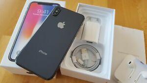 Apple iPhone X  in Space Grau mit 256GB simlockfrei + iCloudfrei + vom Händler