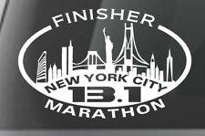 New York City  NYC 13.1 HALF Marathon SKYLINE Decal iPad,Luggage,Car Window