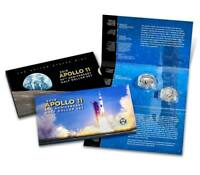 Apollo 11 50th Anniversary 2019 Proof Half Dollar 2 Coin Set w/ Reverse Kennedy