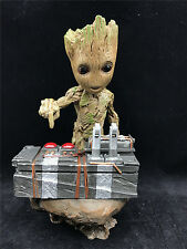 """Guardians of The Galaxy Vol. 2 Baby Groot 7"""" Figure Movie Scene Collectable Gift"""