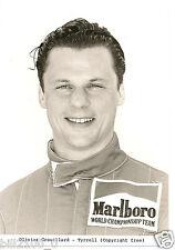 photo originale . course automobile F1 . Olivier Grouillard - Tyrrell