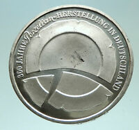 2010 GERMANY Porcelain Manufacturing Genuine Proof Silver 10 Euro Coin i76035