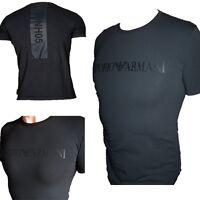 EMPORIO ARMANI MENS MUSCLE FIT BLACK T-SHIRT 05HNH SIZE M, L, XL- SLIM FIT tshir