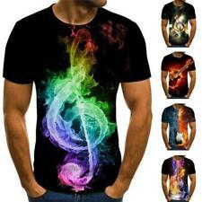2020 Fahion Women Men Casual 3D T-Shirt Funny Music Print Short Note Sleeve J7Y2