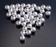 Sterling Silver Beads 5MM PLAIN BEAD - Pack of 10 beads -  DB3C
