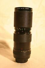 Sun Optics F4.8 85-210MM Auto Telephoto Zoom Camera Lens - Vintage