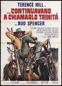 CONTINUAVANO A CHIAMARLO TRINITA' MANIFESTO TERENCE HILL 1972 MOVIE POSTER 2F