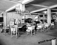 Historical 1926 Photograph of a Maytag Washing Machine Store Display 8x10