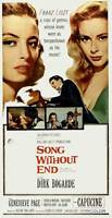 SONG WITHOUT END Movie POSTER 20x40 Dirk Bogarde Capucine Genevieve Page