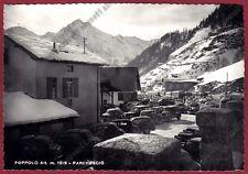 BERGAMO FOPPOLO 11 PARCHEGGIO AUTOMOBILI - NEVE Cartolina FOTOGR. viagg (1957 ?)