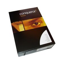 100 Blatt Conqueror Texture Brilliantweiß A4 Papier 100g Briefpapier Gerippt