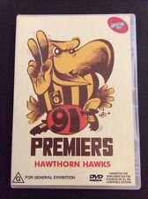 Hawthorn 1991 Premiers DVD Official AFL Hawthorn Vs. West Coast 150min 2009