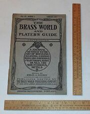 FEB. 1911 - The BRASS WORLD And PLATERS' GUIDE - VOL. VII, NUMBER 2 - illustrate